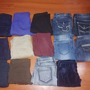 Huge womens juniors jeans bundle lot Mixed combo